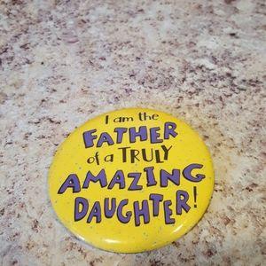 Hallmark Father button pin